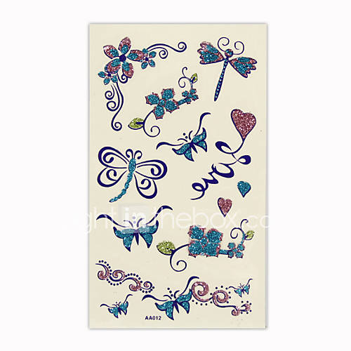 Beautiful Butterfly Temporary Tattoos One Sheet(TYWS0023)