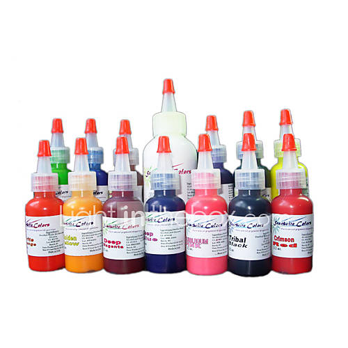 14 Bottles of Color Tattoo Ink Set Included:13 bottles color tattoo ink ( 15