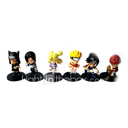 Specification Anime Name Naruto Height 4CM Quantity 6 Material PVC