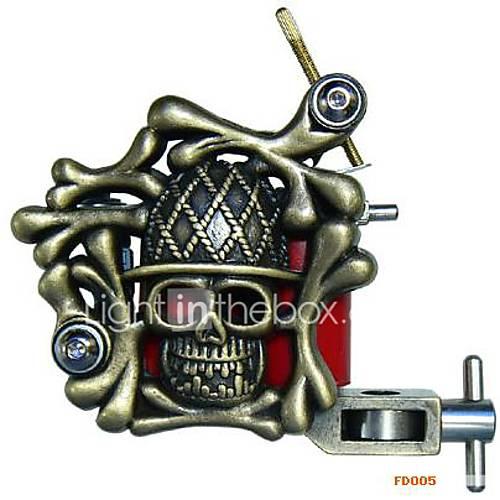 Empaistic Tattoo Machine - Bronze Skull Crossbone .