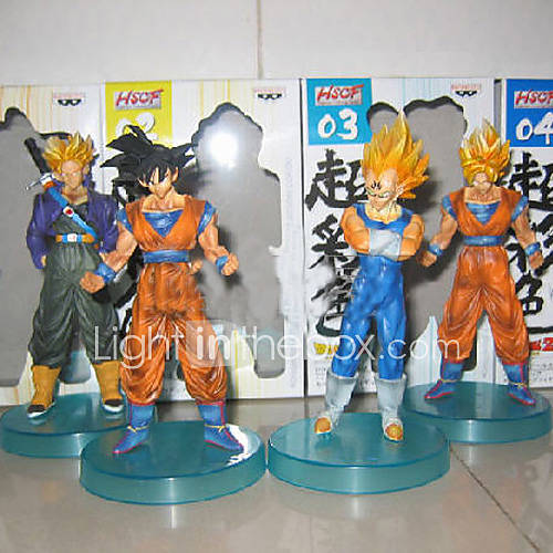 vegeta super saiyan 4 4 Pieces Dragon Ball Goku & Vegeta & Trunks BATTLE