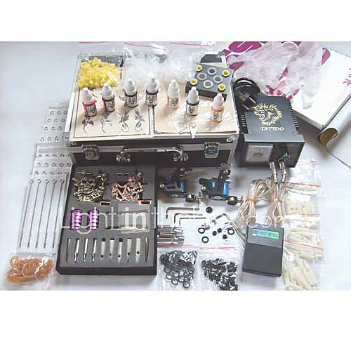 Tattoo Kit Set includes:4 x Professional stainless steel machines (gun) for