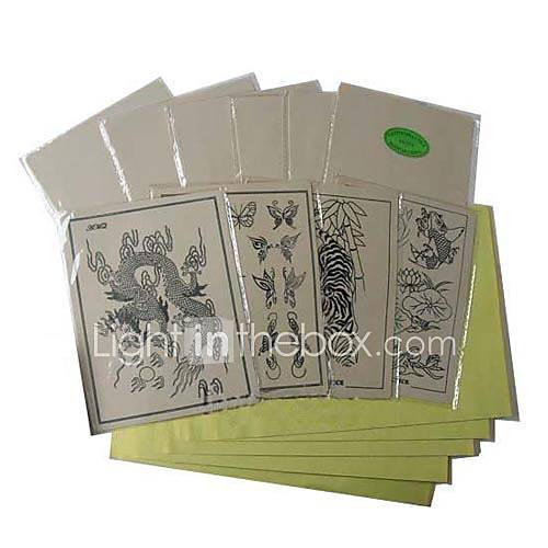 Free Shipping 20 x TATTOO PRACTICE SKINs and 100 x TRANSFER PAPER - US$