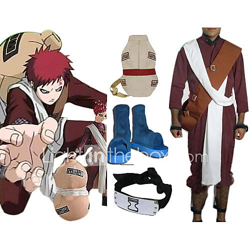 Naruto Shippuden Gaara Red Men's Cosplay BATTLE STATS: Total Wins:6