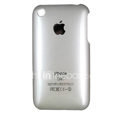 Silver Plastic Case For Apple Iphone 3G 8GB(Iphone3-3873) .