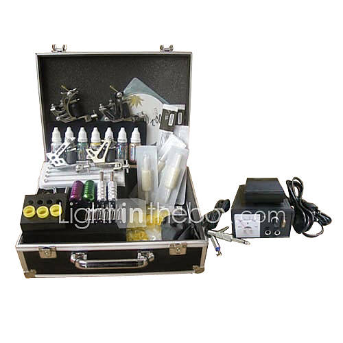 Professional Tattoo Kits Complete Kit With 4 Tattoo Guns - US$ 119.99
