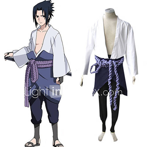 Naruto Shippuden Sasuke Uchiha Men's Cosplay  BATTLE STATS: Total Wins:4