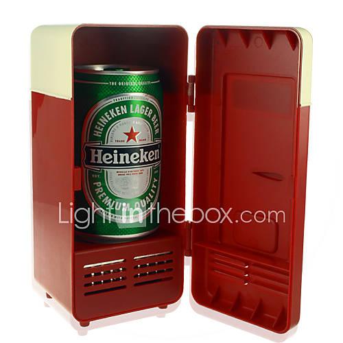 Питание по USB Cooler + подогреватель - ретро холодильник дизайн.