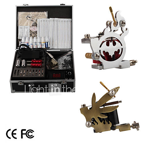 Professional Tattoo Machine Kit Completed Set With 2 Tattoo Gun