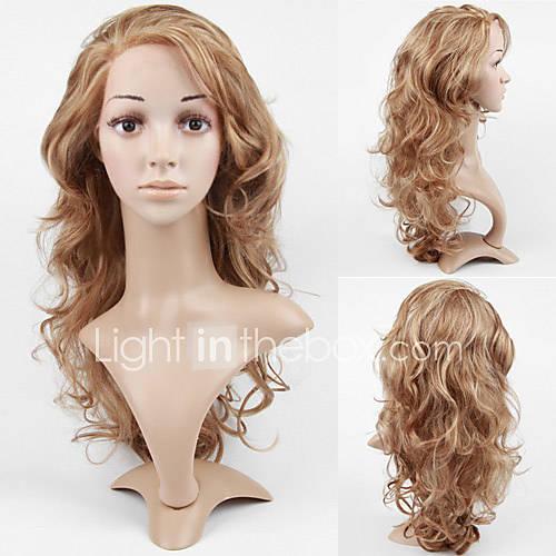 anteriore del merletto a lungo di alta qualit%uFFFD%uFFFD sintetico parrucca biondo chiaro capelli ricci (11,23 0.479 tslr8)