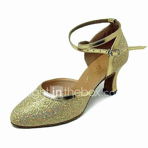 Искусственная кожа Мерцающая отделка На каблуках Современный танец Актовый зал Обувь для танцев (053013450) .