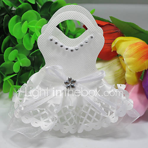 Wedding Dress Design Favor Bag - Set of 12 - USD $ 8.99