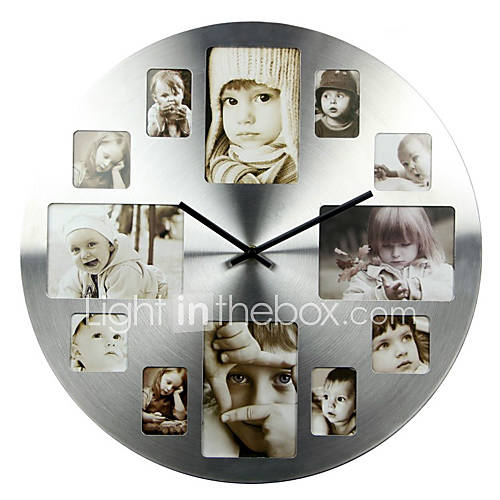 Horloge murale photo pictures to pin on pinterest - Horloge avec cadre photo ...