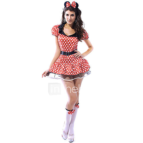 Sexy Women's Minnie Mouse Adult Halloween Costume(3 ...
