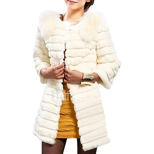 RUB p. 2 828,82 3/4 рукав воротника из искусственного меха партии / Office пальто (больше цветов