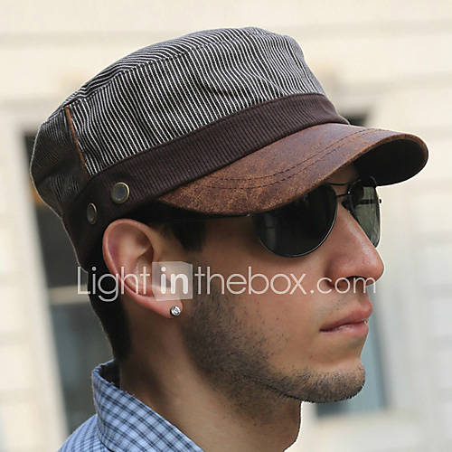 Offerta: Fashion Coffee Stripe modello UV Protection Cap piatto