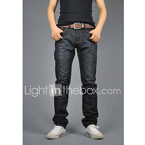 Offerta: Men 's Fashion Denim Jeans lunghi Straight Leg