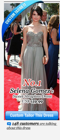Selena Gomez's Sweet Strapless Dress