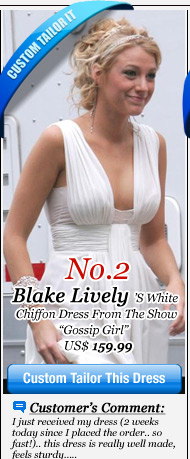 Blake Lively's White Chiffon Dress