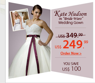 Kate Hudson Bride Wars Wedding Gown