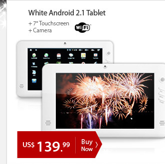 White Android 2.1 Tablet