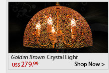 Golden Brown Crystal Light