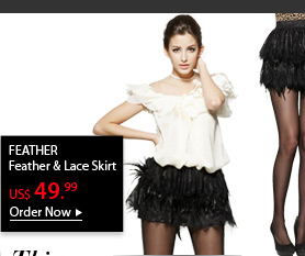 FEATHER Feather &amp; Lace Skirt