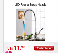 LED Faucet Spray Nozzle