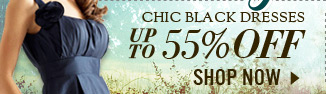 Chic Black Dresses up to 55% off