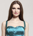 Chiffon Trumpet/Mermaid One Shoulder Sweep Train Evening Dress inspired by Ksenia Solo