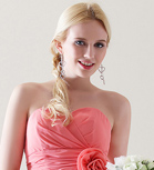 A-line One Shoulder Knee-length Chiffon Over Elastic Satin Bridesmaid Dress