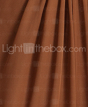 Sheath/Column One Shoulder Floor-length Chiffon Bridesmaid Dress