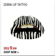 Zebra Lip Tattoo