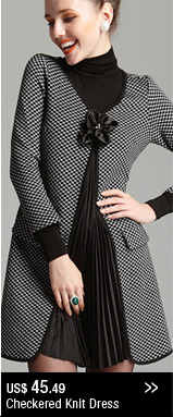 Checkered Knit Dress