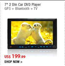 "7"" 2 Din Car DVD Player"