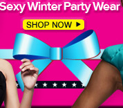 Beautiful bows sexy winter party wear