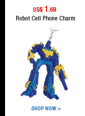 Robot cell phone charm