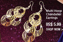 Multi Hoop Chandelier Earrings