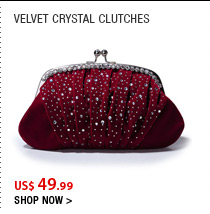 Velvet Crystal Clutches