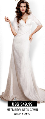 Mermaid V-neck Gown