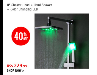 8&quot; Shower Head + Hand Shower