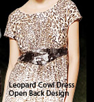 Leopard Cowl Dress