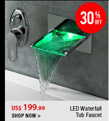 LED Waterfall Tub Faucet