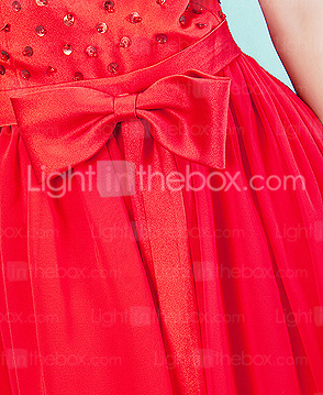 Chiffon Ankle-length Spaghetti Strap Junior Bridesmaid Dress