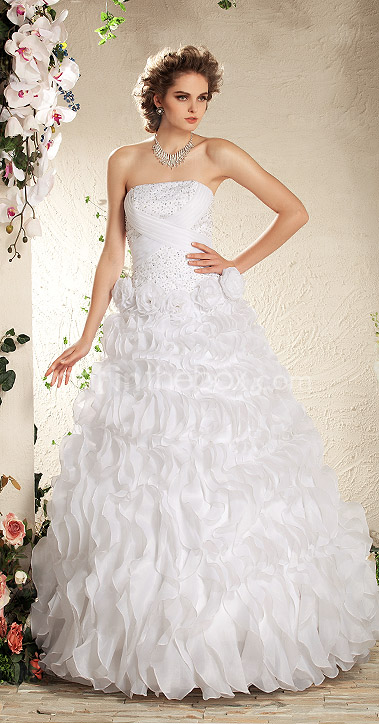 LESLY - Abito da Sposa in Organza e Raso