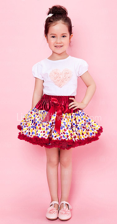Girl Skirt With Polka Dots