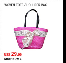 Woven Tote Shoulder Bag