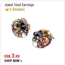 Jewel Stud Earrings