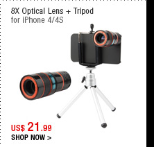 8X Optical Lens + Tripod