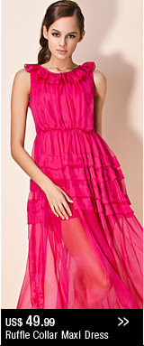 Ruffle Collar Maxi Dress